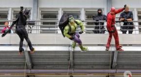 Bellepierre: Les enfants hospitalisés rencontrent leurs super-héros