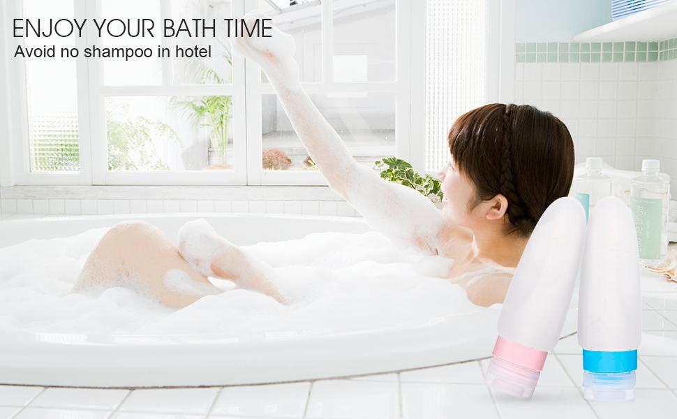 convenient toiletries bottles for bath