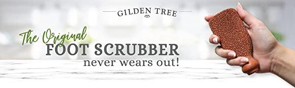 gilden tree original foot scurbber never wears out scrub pumus callous shower file calose scraper