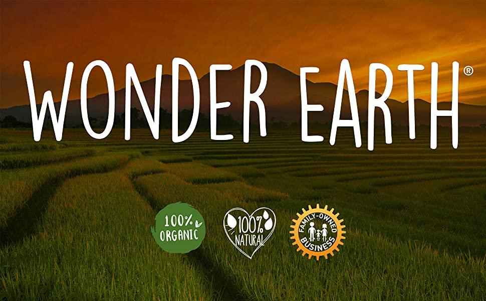 Wonder Earth Main Logo Natural Oils Organic Jojoba Hemp Castor Oregano