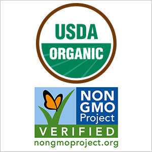 USDA Certified Organic - Non-GMO Verified