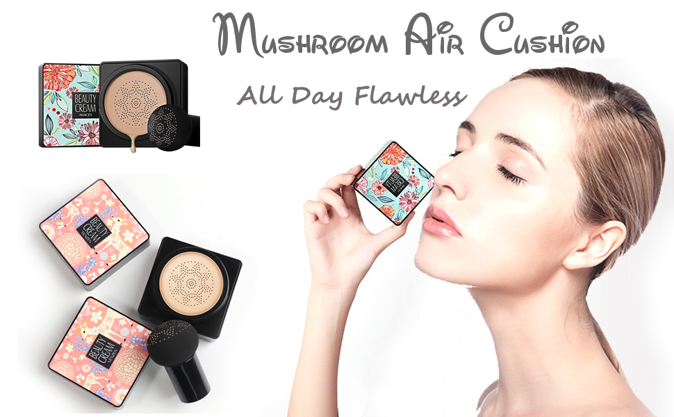 mushroom air cushion foundation cc cream bb cream