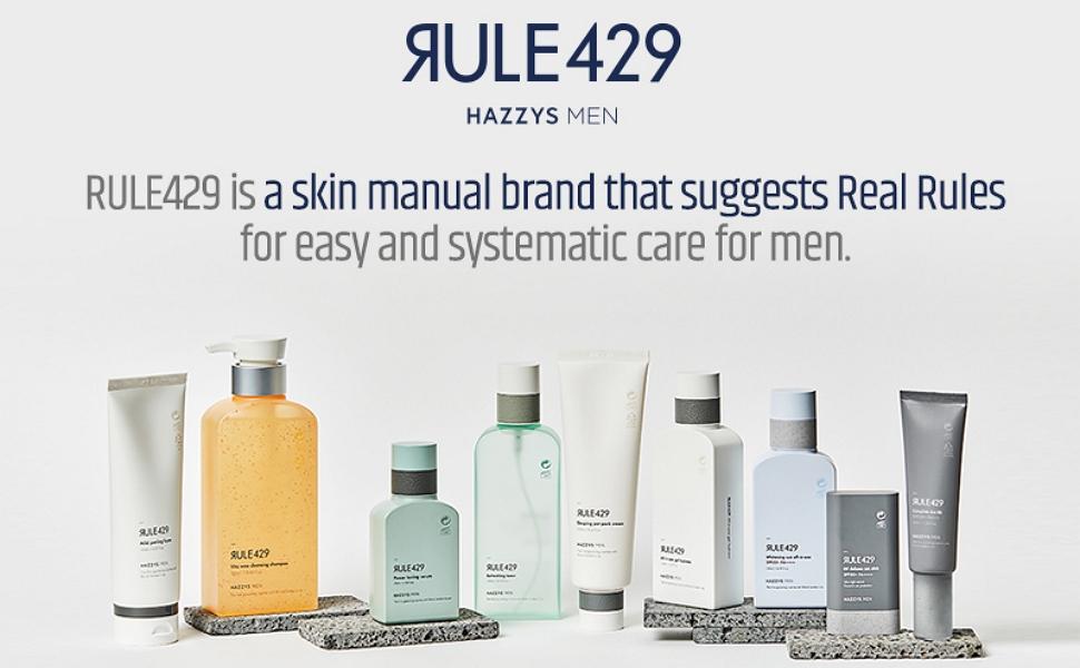 hazzys men rule429 for men  men's skincare grooming korean men skincare