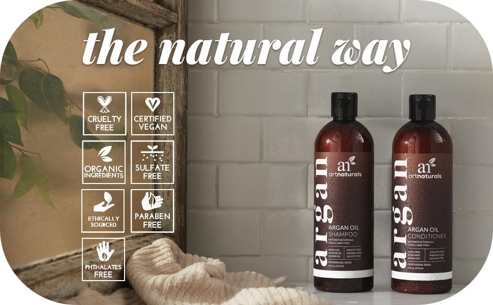 Pure natural sulfate paraben free organic argan oil