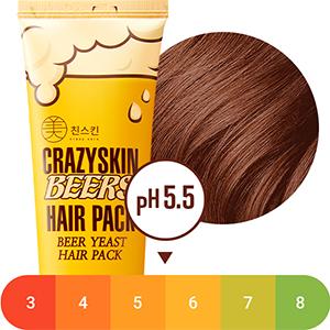 crazy skin beer hair pack