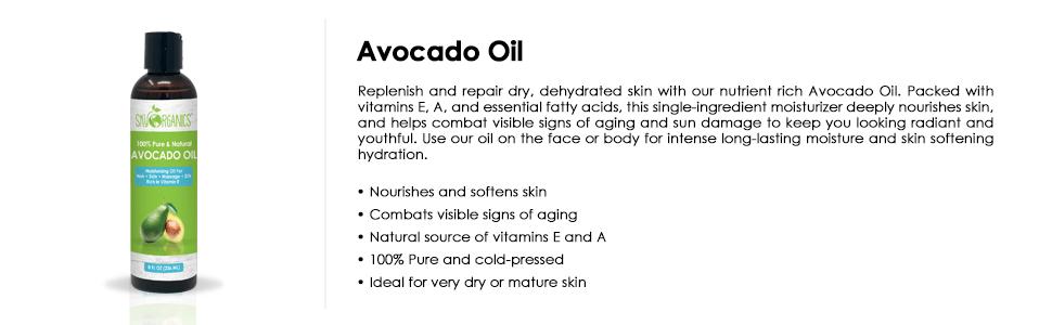 avocado oil, avocado, organic avocado oil, pure cold pressed, vitamin E, moisturizer, skin face