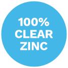100% Clear Zinc