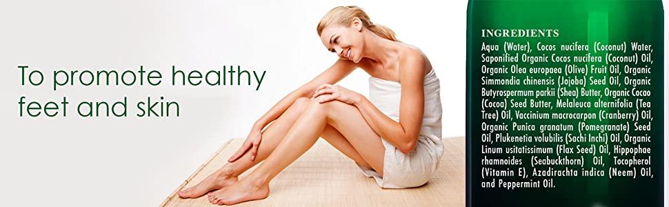 Botanic hearth tea tree wash all natural toenails fungus athletes foot essential oil premium top