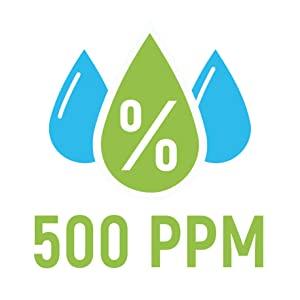 500 ppm