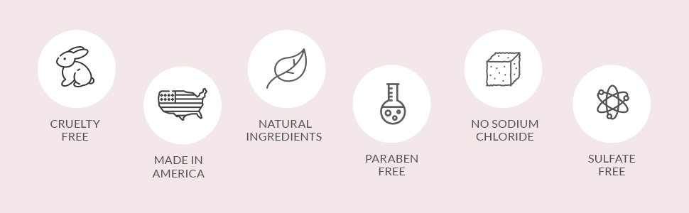 Made in US, Cruelty Free, Paraben Free