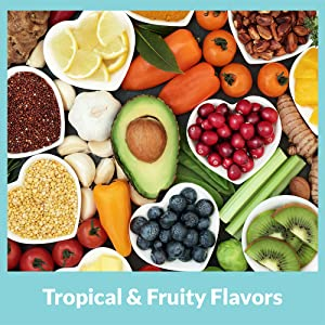 tropical and fruity flavors