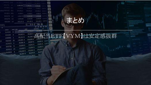 まとめ.高配当ETF【VYM】は安定感抜群