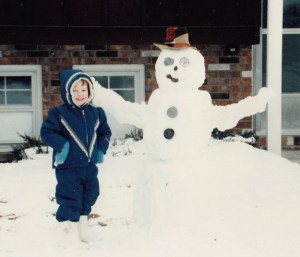 with my snowman