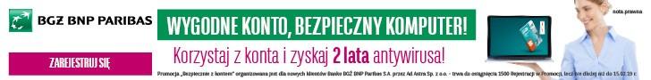 Baner BGZ BNP Paribas Konto Optymalne