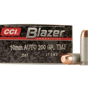 CCI Ammunition Blazer FMJ 200 Grain Aluminum 10mm 50Rds
