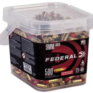 Federal American Eagle Brass 9mm 124 Grain 500-Rounds TSJRN