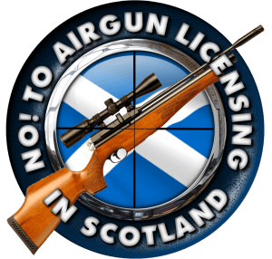 No to Airgun Licensing in Scotland campaign logo