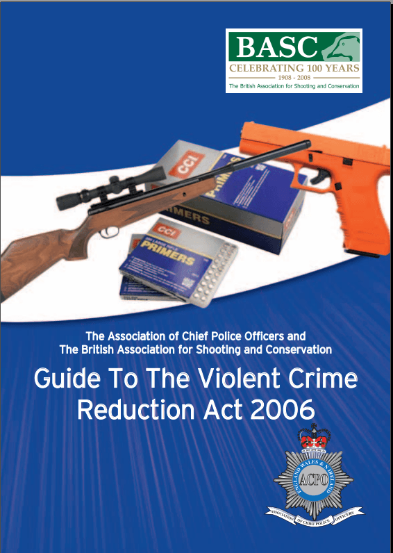 Guide to the VCR Act 2006 by BASC and ACPO