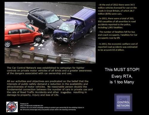 Firearms UK meme on GCN style car control
