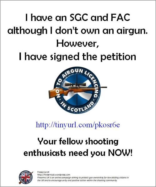 A Firearms UK poster