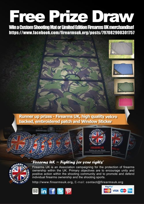 Firearms UK Shooting Mat Free Prize Draw Poster
