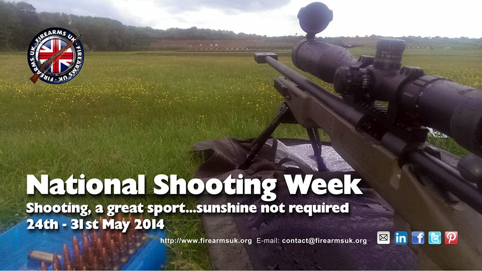 Rifle on mat looking down outdoor range for National Shooting Week 2014