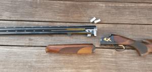 Stripped down Browning 525 shotgun