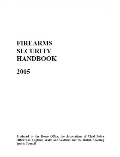 Firearms Security Handbook 2005
