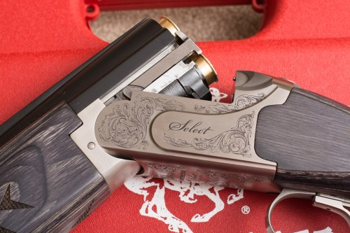Close up of scroll work on Winchester Select Sporter