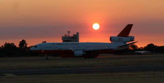 DC-10 departing McClellan