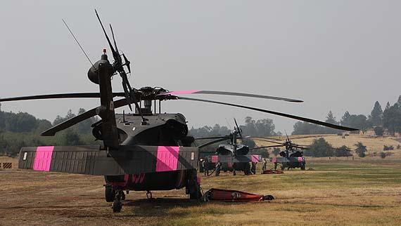 Blackhawk helicopters Rim Fire