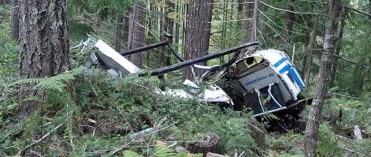 Logging helicopter crash Oregon