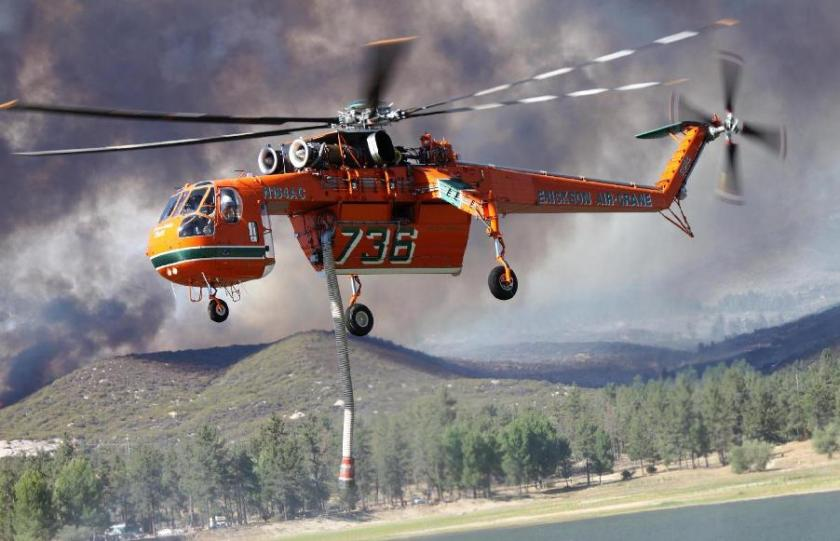 Erickson Air-Crane July 16 on the Mountain Fire
