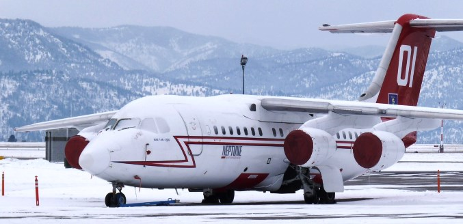 Tanker 01 at Missoula 2-2-2014. Photo by Bill Moss.