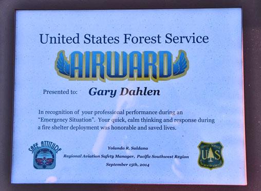 Gary Dahlen award