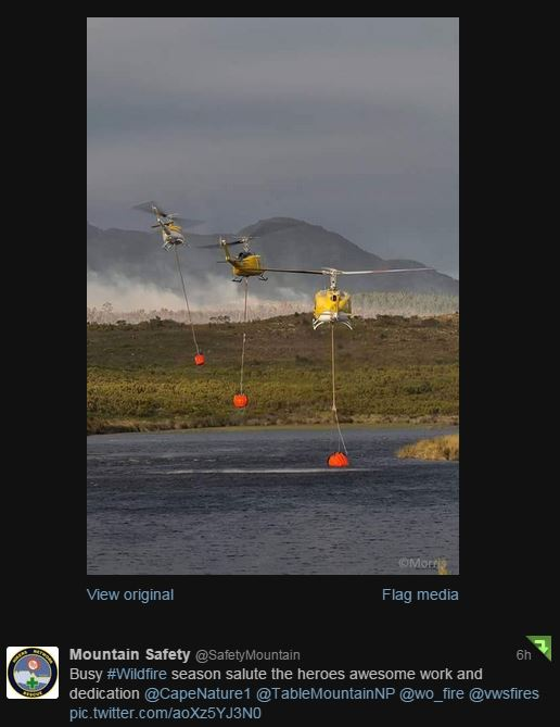 South Africa helicopters fire