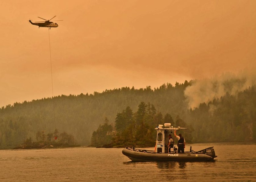 Fire on Sproat Lake S-61