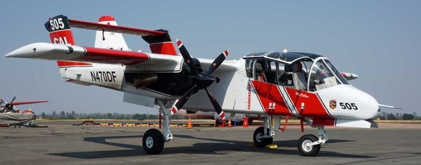 OV-10 at Redding, CA