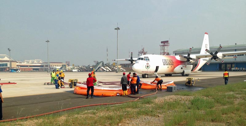 T-132 on Indonesia ramp