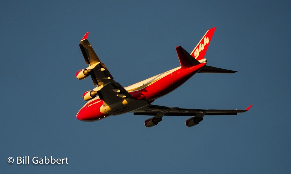 747 SuperTanker departing McClellan Air Field