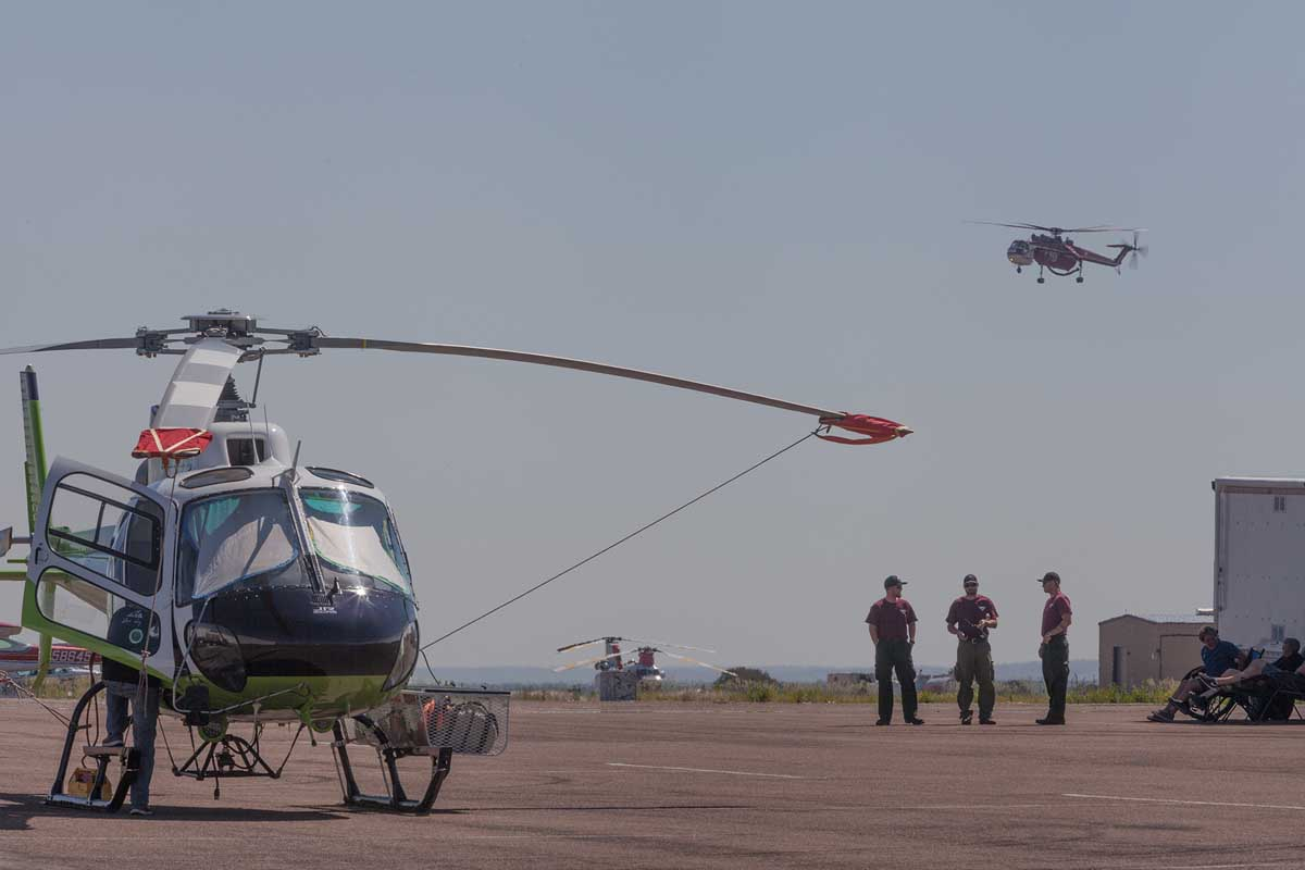 Helicopter operations at the Cedar Fire