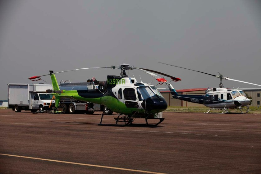 JR Helicopters AStar was staffed by Sandia Helitack while Idaho Helicopters Bell 205A was Twin Falls Helitack's ship.