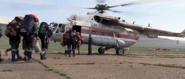 Russian rescuers