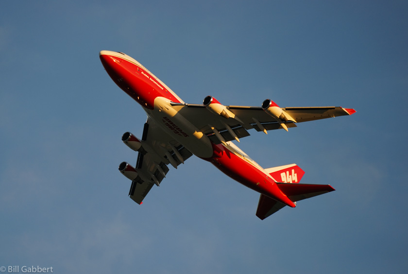 747 Supertanker mobilized to wildfires in Israel