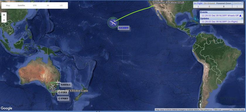 C-130Q en route to Australia