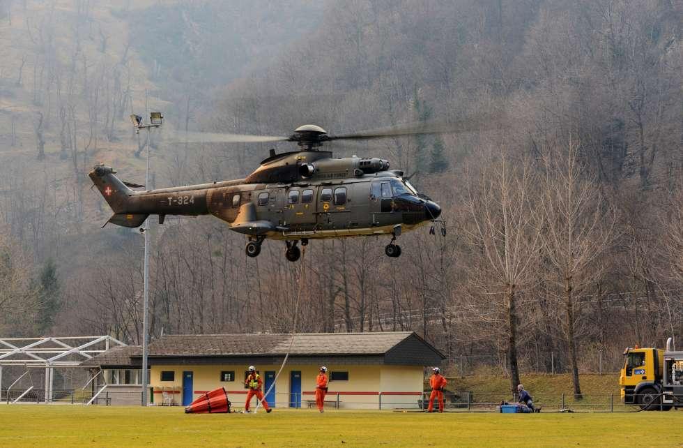 Helicopter Switzerland wildfire