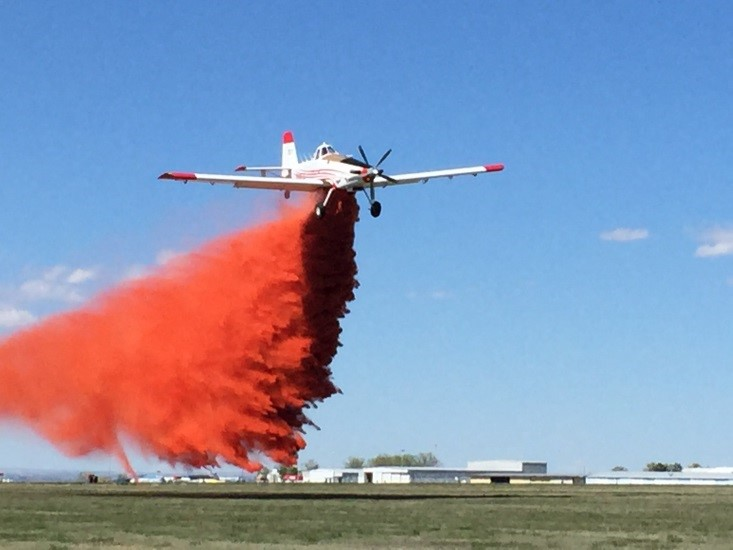 State-contracted SEAT T-831 drops sunset orange FireIce HVO-F®. Courtesy photo.