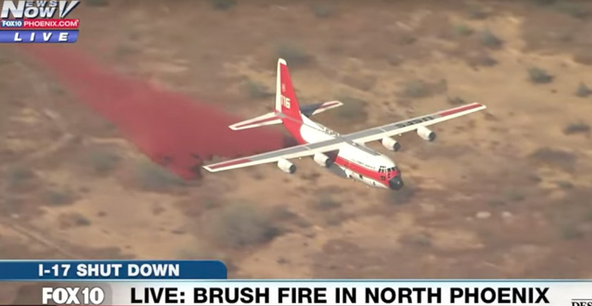 Air Tanker 116 HC-130H retardant