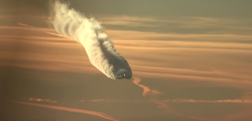 Boeing 787 incredible contrail