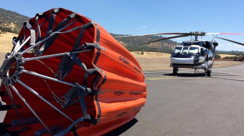 helicopter Detwiler Fire california